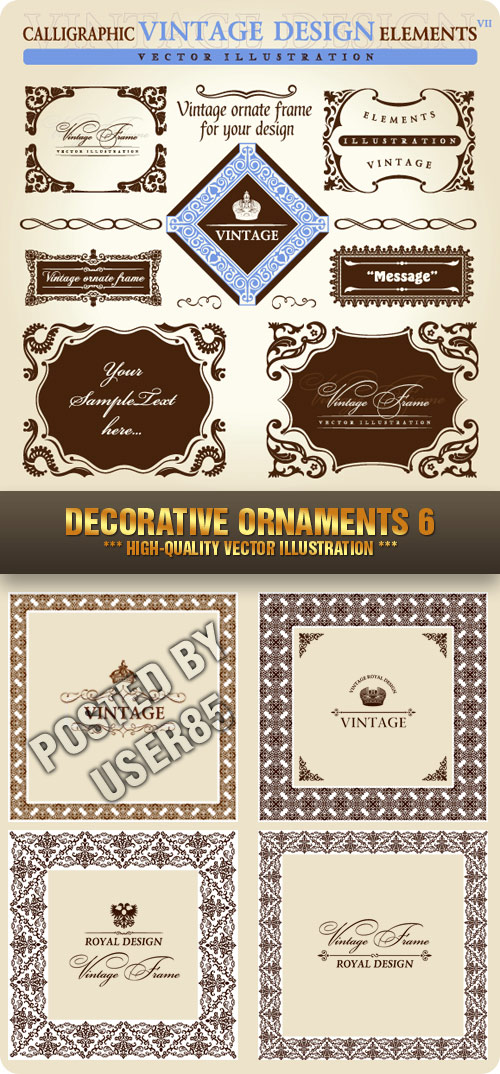 Stock Vector - Decorative Ornaments 6, 5xEPS