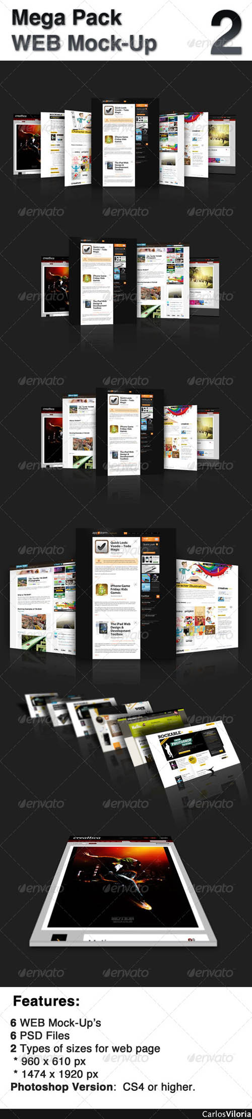 Mega Pack WEB Mock-Up 2  - GraphicRiver (RE-UPLOADED)