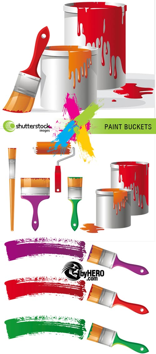 Paint Buckets 3xEPS Vector SS