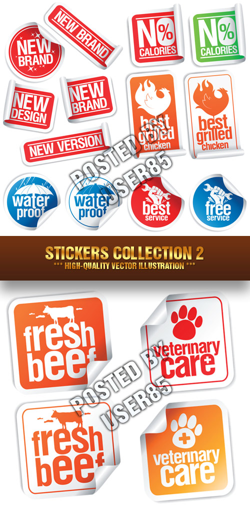 Stock Vector - Stickers Collection 2