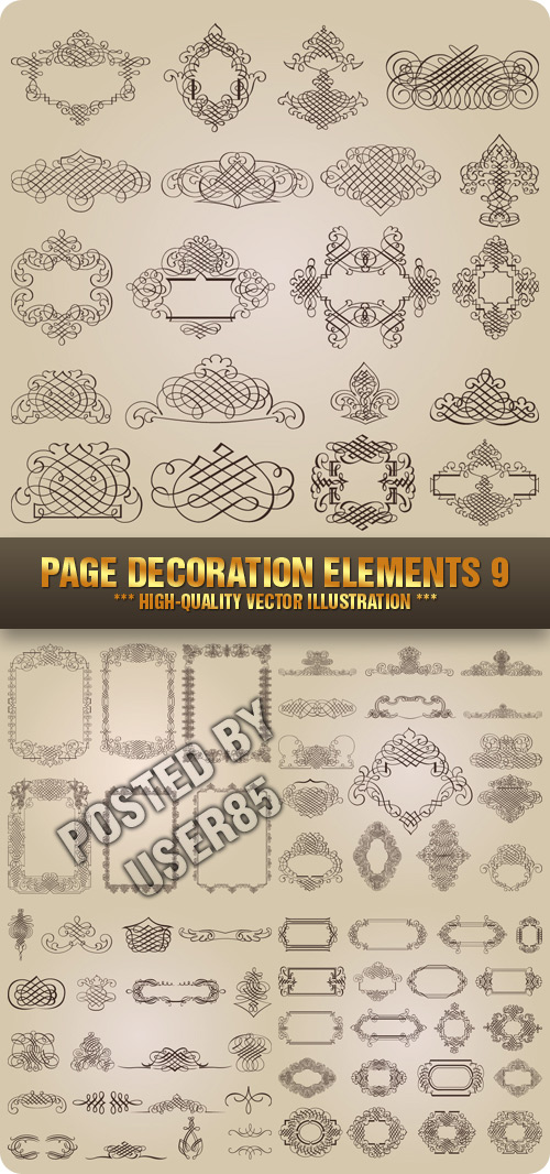 Stock Vector - Page Decoration Elements 9