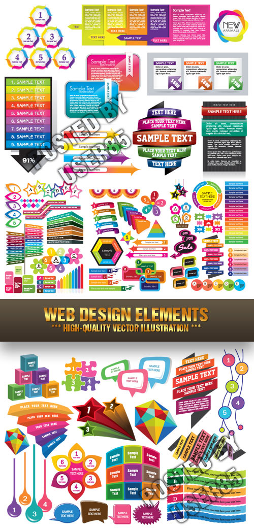Stock Vector - Web Design Elements
