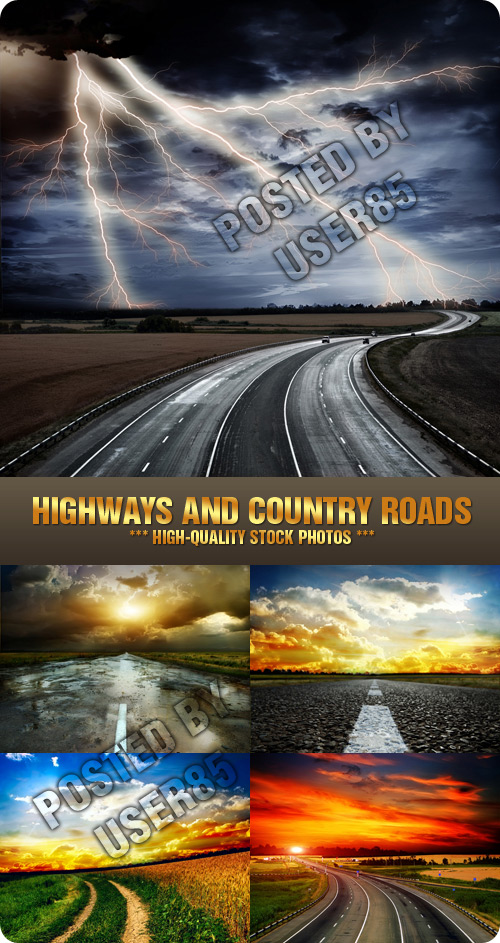 Stock Photo - Highways and Country Roads