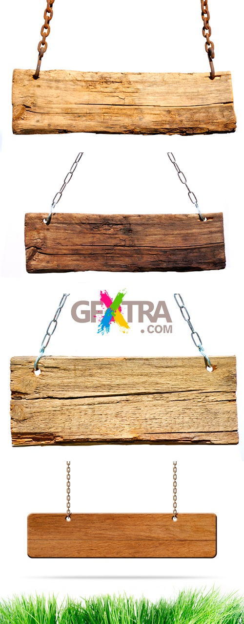 Stock Photo - Wooden Signs