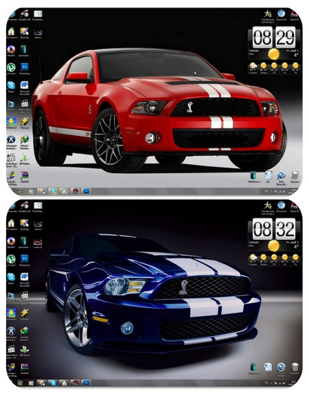 Ford Shelby GT 500 Windows 7 Theme