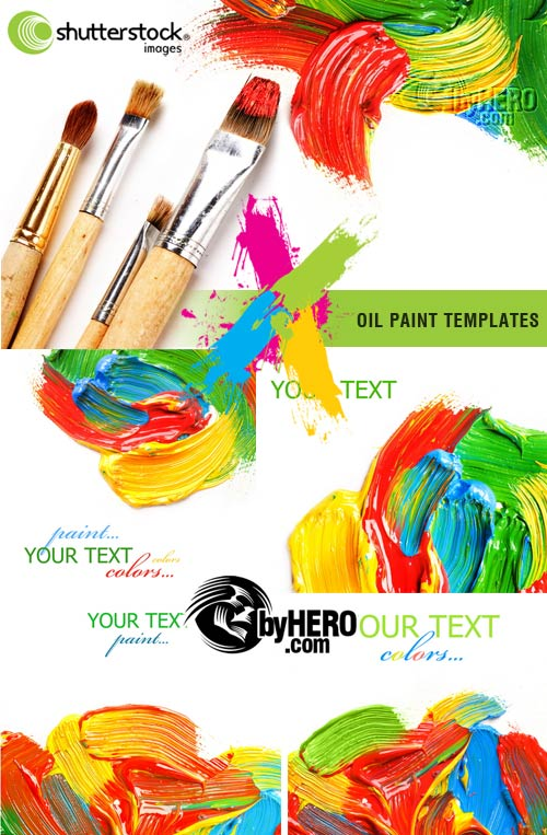 Oil Paint Templates 5xJPGs Stock Image SS