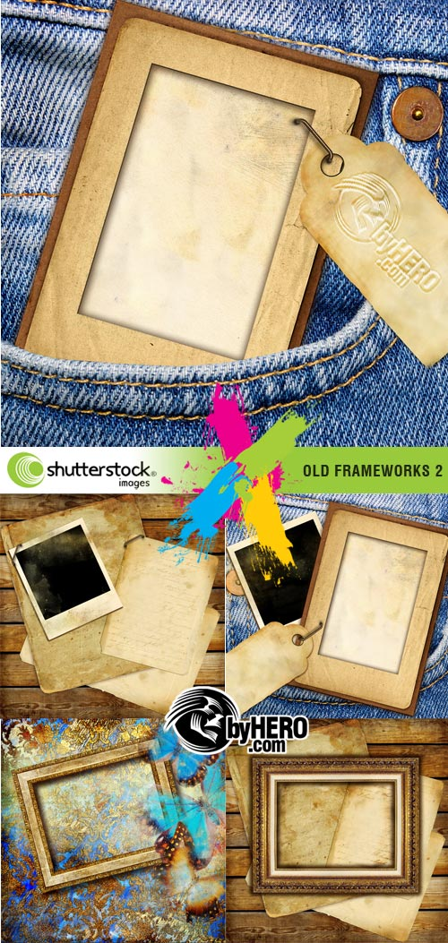 Old Frameworks-2, 5xJPGs Stock Image