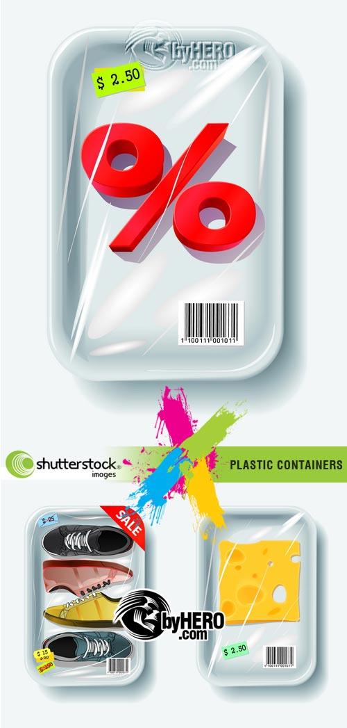 Plastic Containers 3xEPS Vector SS