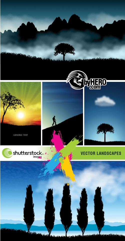 Vector Landscapes 5xEPS Vector SS