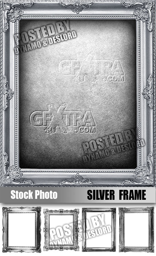 Silver Frame - UHQ Stock Photo