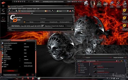 Theme for Windows 7 - Annihilator Red