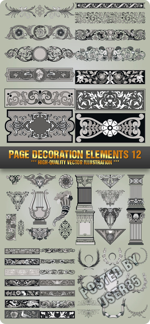 Stock Vector - Page Decoration Elements 12