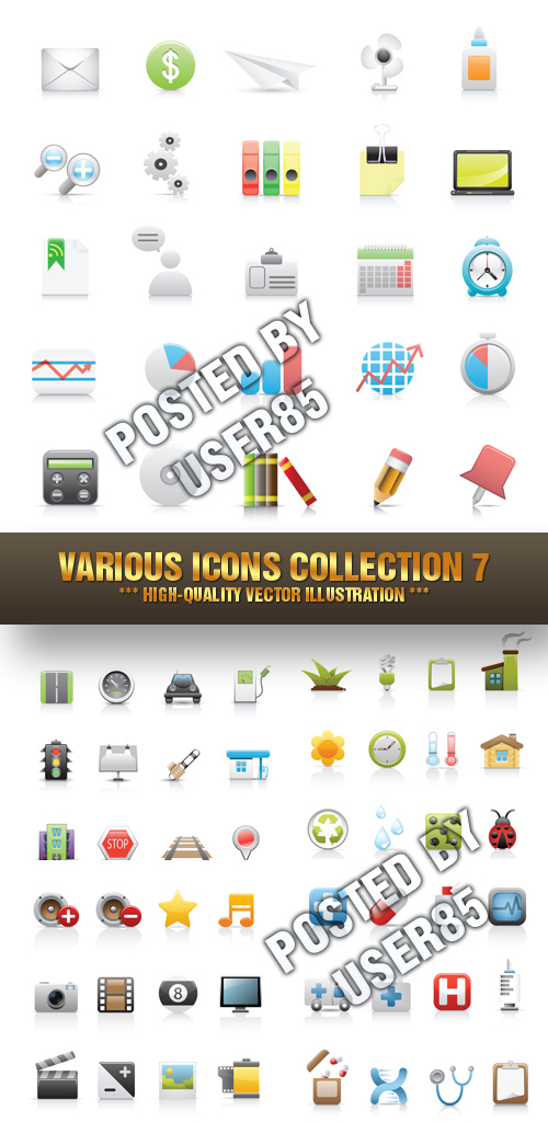 Stock Vector - Various Icons Collection 7