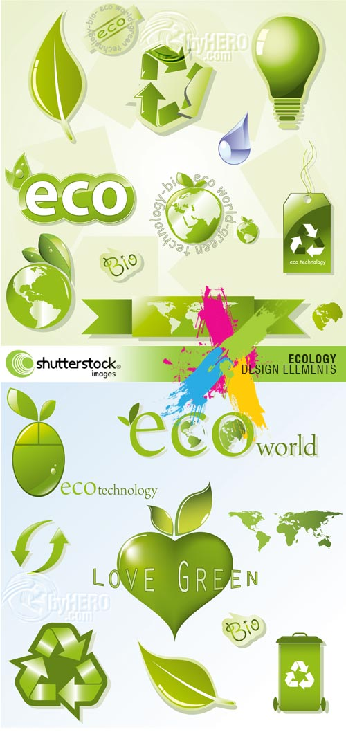 Ecology Design Elements 2xEPS Vector SS