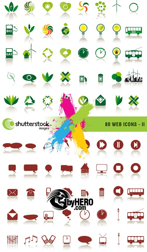80 Web Icons 2, 2xEPS Vector SS