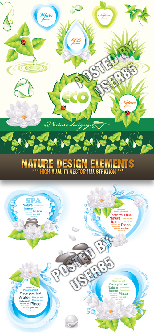 Stock Vector - Nature Design Elements
