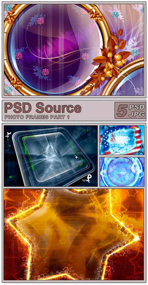 Layered PSD Files - Photo frames 1