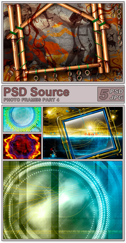 Layered PSD Files - Photo frames 4