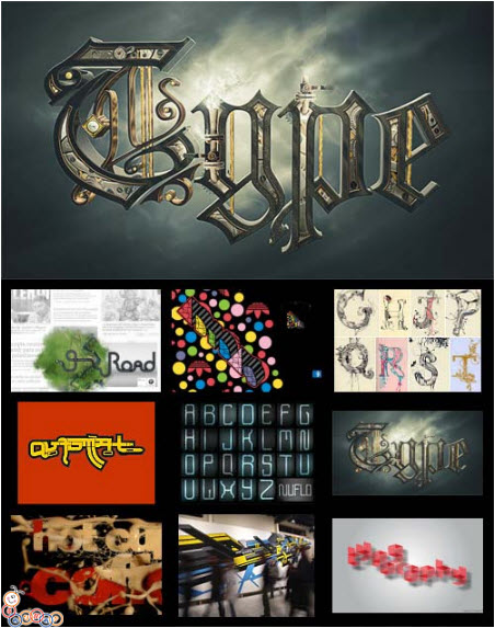 TypeMania - Typographic Designs 500xJPGs