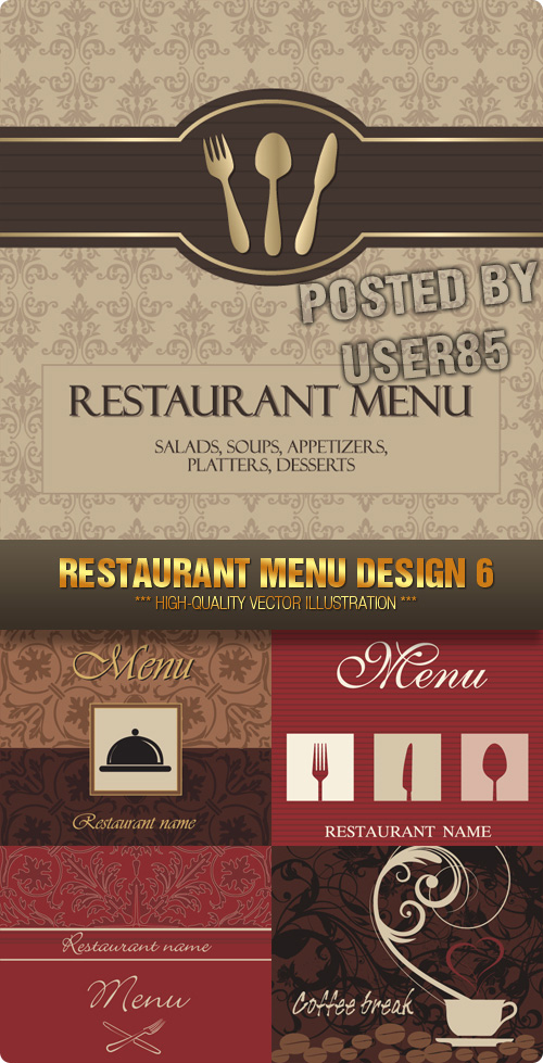 Stock Vector - Restaurant Menu Design 6