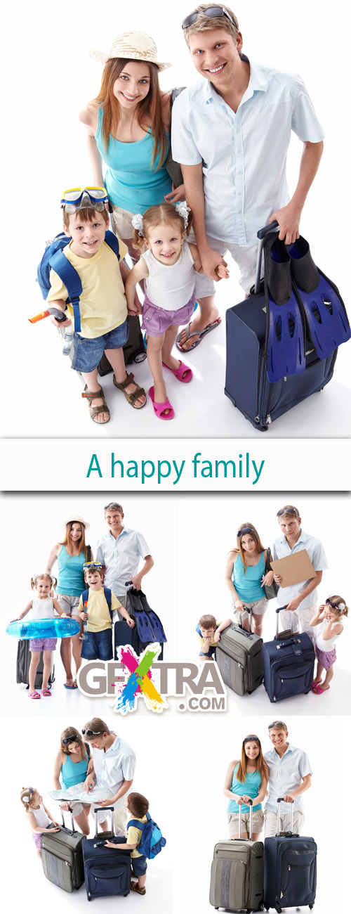A Happy Family (Traveling Family) 5xJPGs