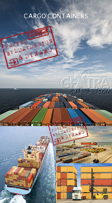 Stock Photo - Cargo containers