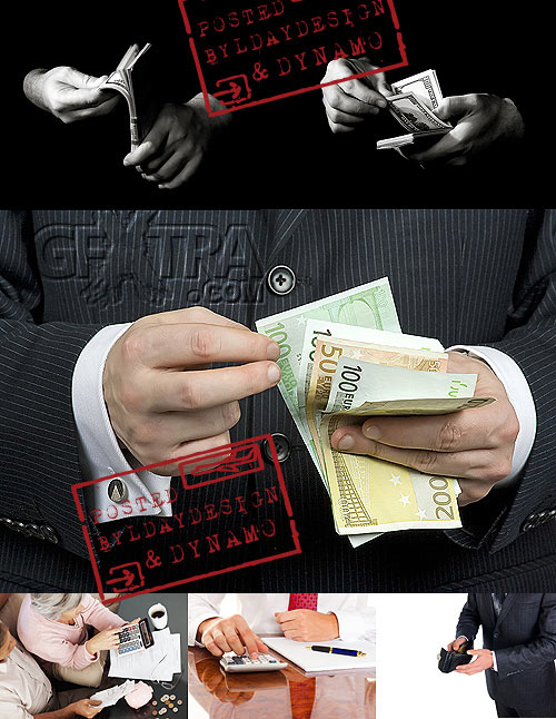Stock Photo - Counting money