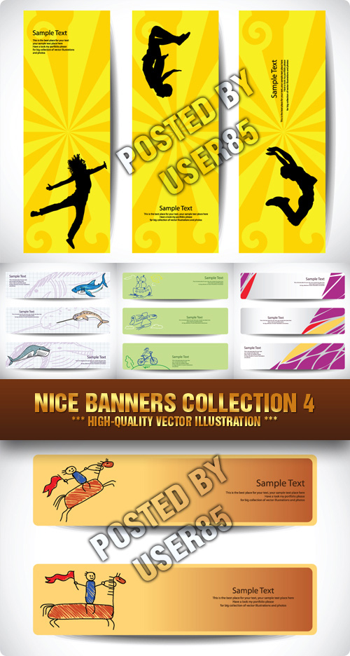 Stock Vector - Nice Banners Collection 4
