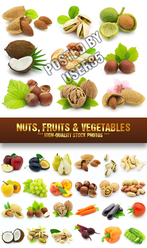 Stock Photos - Nuts, Fruits & Vegetables