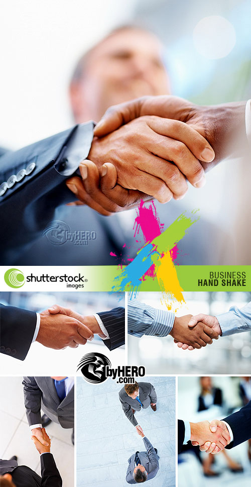 Business - Hand Shake 6xJPGs Stock Image SS