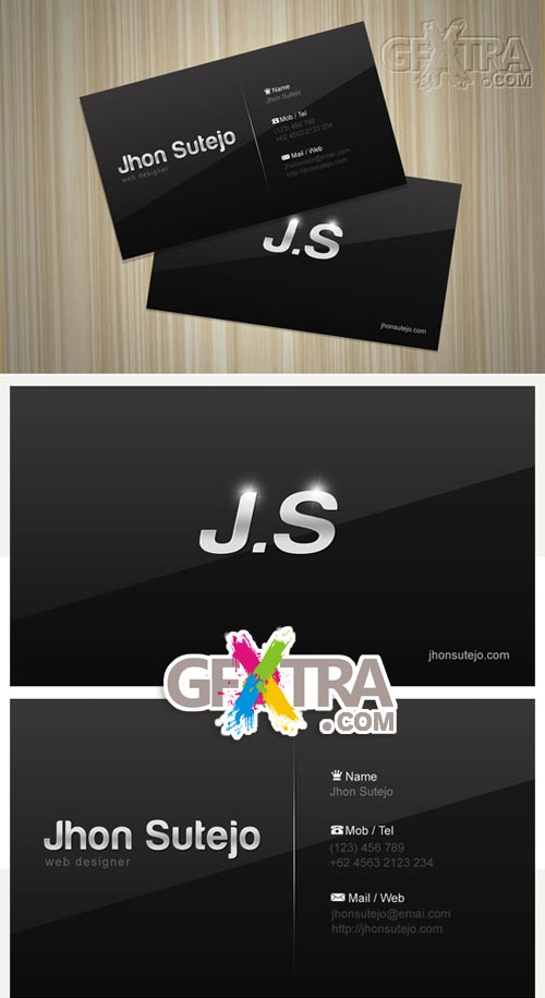Elegant Dark Business Card PSD