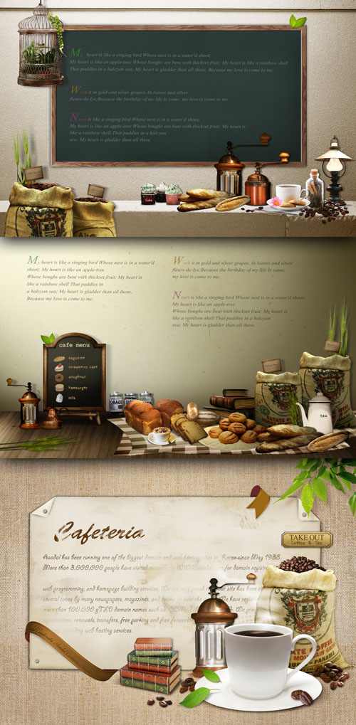 Sources - Menu coffeehouses
