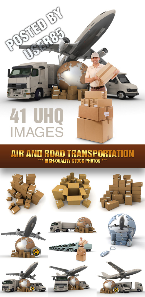 Air and Road Transportation - 41xJPGs