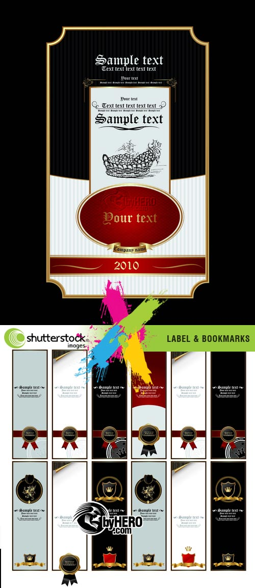 Label & Bookmarks 2xEPS Vector SS