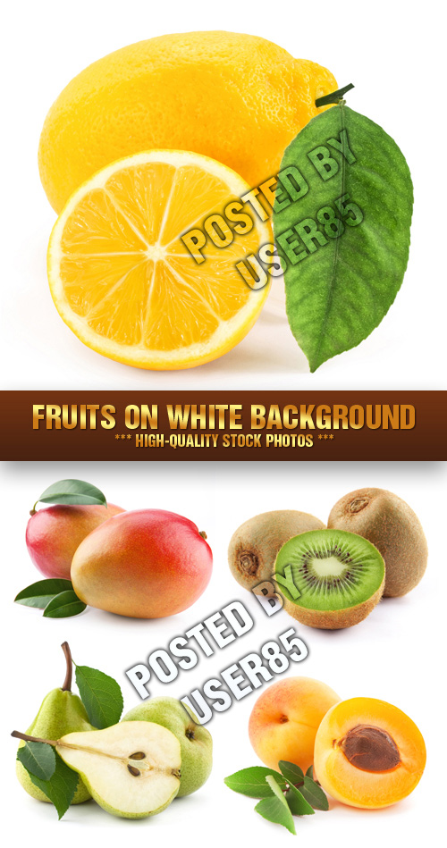 Stock Photo - Fruits on White Background