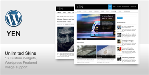 YEN - Magazine, News and Blog Wordpress Template - ThemeForest