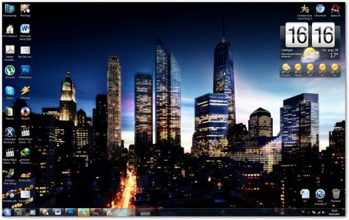 Theme for Windows 7 - Future Manhattan
