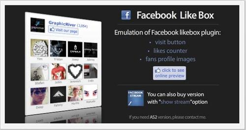 Flash Facebook Like Box - ActiveDen