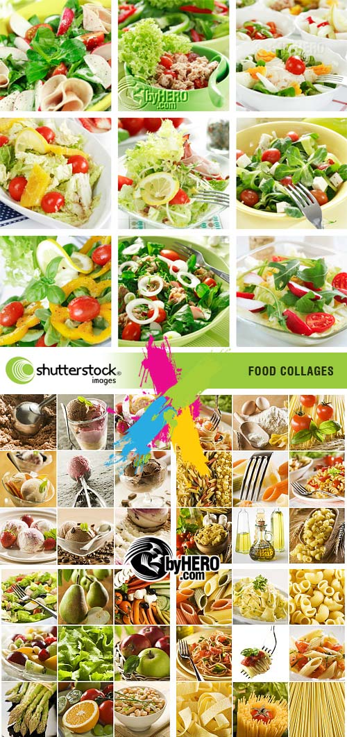 Food Collages - 5xJPGs Stock Image SS