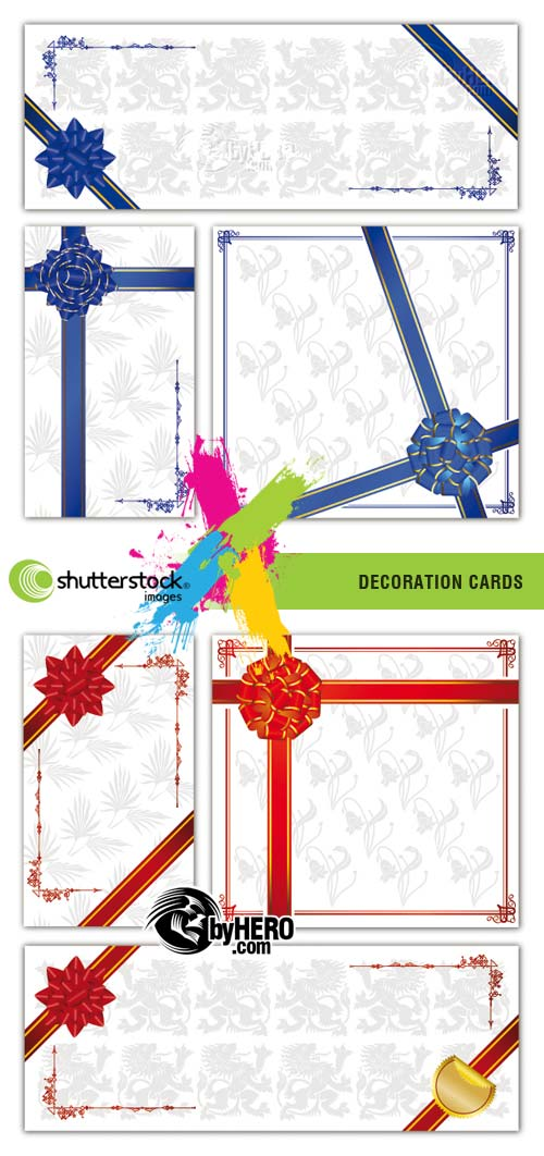 Decoration Cards 2xEPS Vector SS