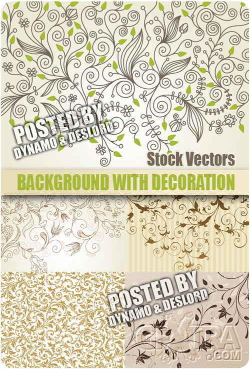 Background with decoration - Stock Vectors
