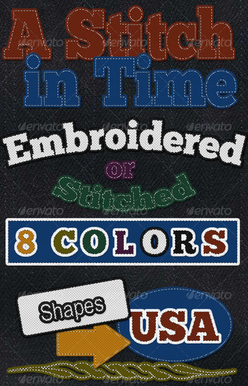 Stitches and Embroidery Layer Style - GraphicRiver