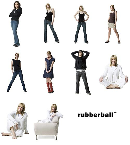 RubberBall 039 Adult Silhouettes 2 Casual