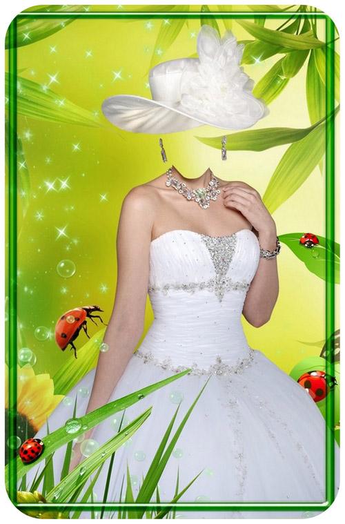 ملف مفتوح لعروسه في الحديقه