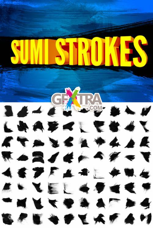 Sumi Strokes ABR, 82 HQ Brushes