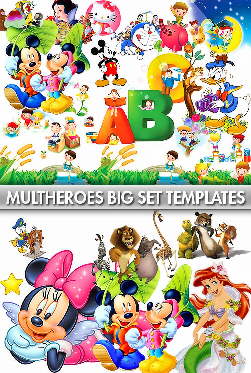 Cartoon Heroes Templates