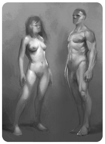 Female And Male Pose - daarken.com