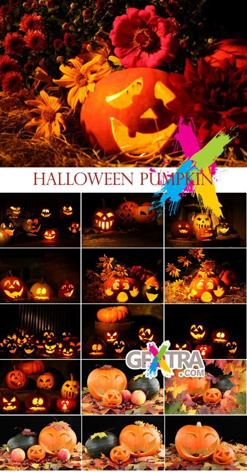 Stock Images - Halloween Pumpkin 18xJPGs