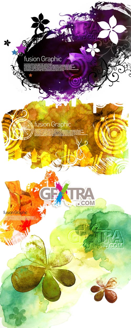 Fusion Graphic Vol.1, 2 and 3 - PSD