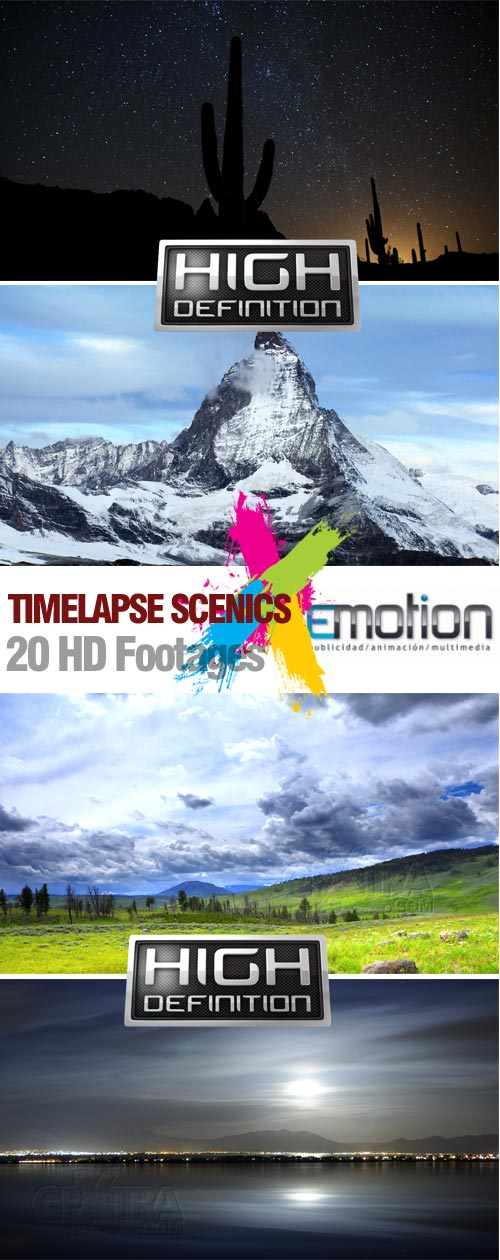 Timelapse Scenics - 20 HD Footages
